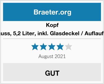 Kopf Bräter Pic (Aluguss, 5,2 Liter, inkl. Glasdeckel / Auflaufform, Induktion) Test