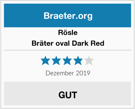 Rösle Bräter oval Dark Red Test