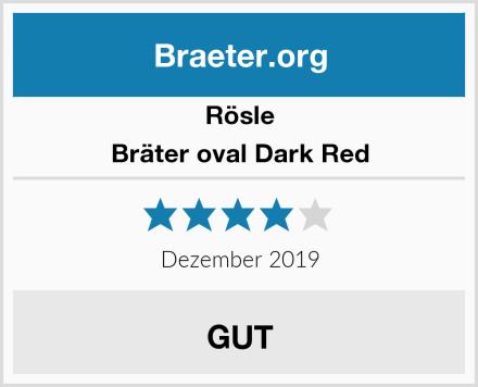 Rösle Bräter oval Dark Red Test