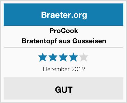 ProCook Bratentopf aus Gusseisen Test