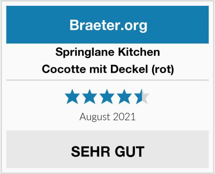 Springlane Kitchen Cocotte mit Deckel (rot) Test