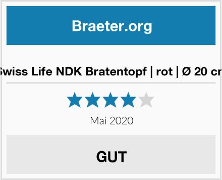 Swiss Life NDK Bratentopf | rot | Ø 20 cm Test