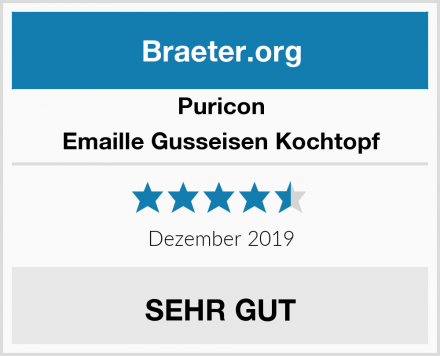 Puricon Emaille Gusseisen Kochtopf Test