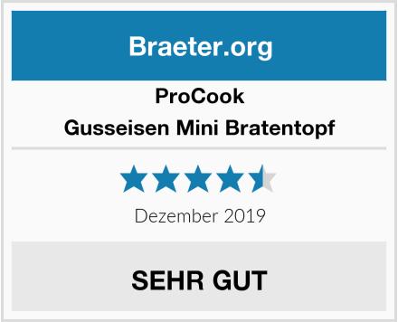 ProCook Gusseisen Mini Bratentopf Test