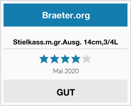 Stielkass.m.gr.Ausg. 14cm,3/4L Test