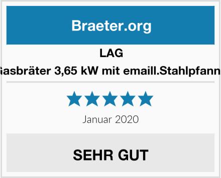 LAG Gasbräter 3,65 kW mit emaill.Stahlpfanne Test