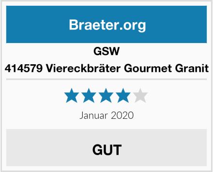 GSW 414579 Viereckbräter Gourmet Granit Test