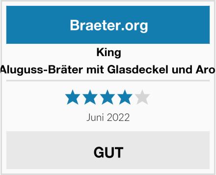 King B6830G Aluguss-Bräter mit Glasdeckel und Aromaknopf Test