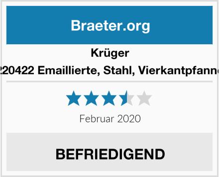 Krüger 220422 Emaillierte, Stahl, Vierkantpfanne Test