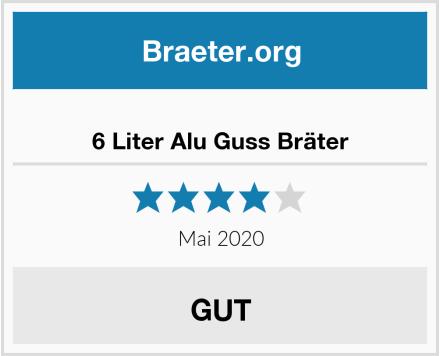 6 Liter Alu Guss Bräter Test