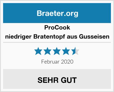 ProCook niedriger Bratentopf aus Gusseisen Test