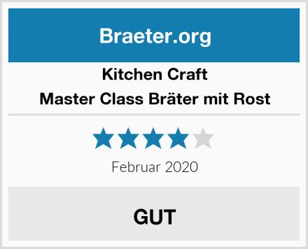 Kitchen Craft Master Class Bräter mit Rost Test