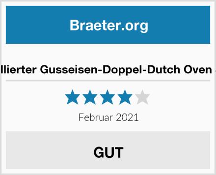 Bruntmor 2 in 1 emaillierter Gusseisen-Doppel-Dutch Oven & Bratpfannendeckel Test
