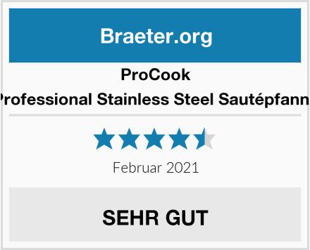 ProCook Professional Stainless Steel Sautépfanne Test