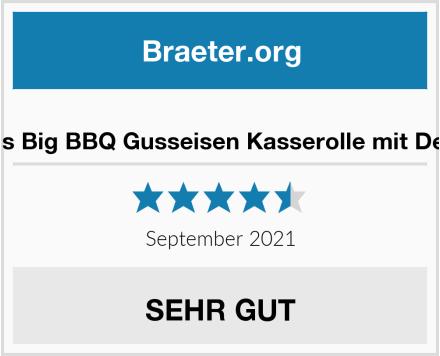 ToCis Big BBQ Gusseisen Kasserolle mit Deckel Test