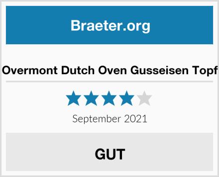 Overmont Dutch Oven Gusseisen Topf Test
