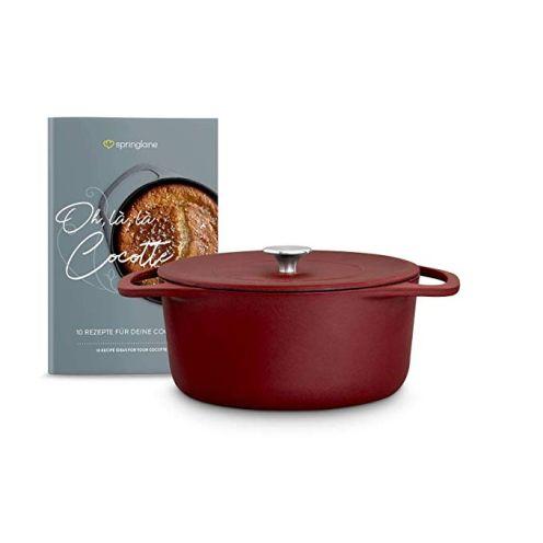 Springlane Kitchen Cocotte mit Deckel (rot)
